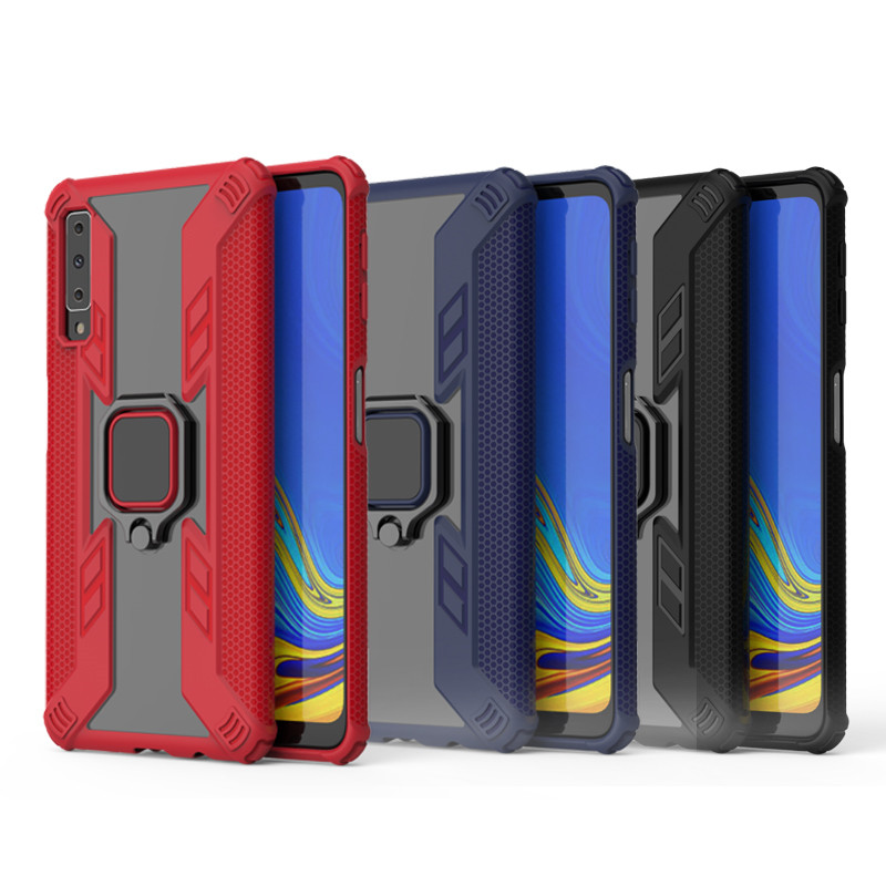 For <font><b>Samsung</b></font> Galaxy A7 <font><b>2018</b></font> Case Finger Ring Armor Stand Case For <font><b>Samsung</b></font> Galaxy A7 <font><b>2018</b></font> A 7 A750 A <font><b>750</b></font> 6.0inch Phone Cover Coque image