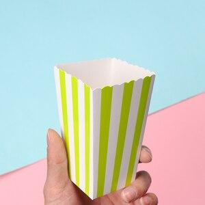 Image 4 - 12 Uds. De bolsas de palomitas de maíz de oro rosa para fiestas de niños, cajas de decoración para boda y cumpleaños, suministros para películas, bolsa de palomitas de maíz, suministros para fiestas