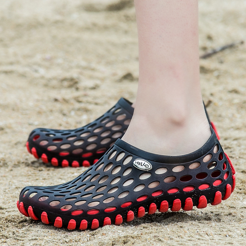 Summer Shoes Men Sandals 2019 Fashion Lovers Hole Non-slip Beach Slippers Man Sandals Comfortable Breathable Shoes Men Sandals