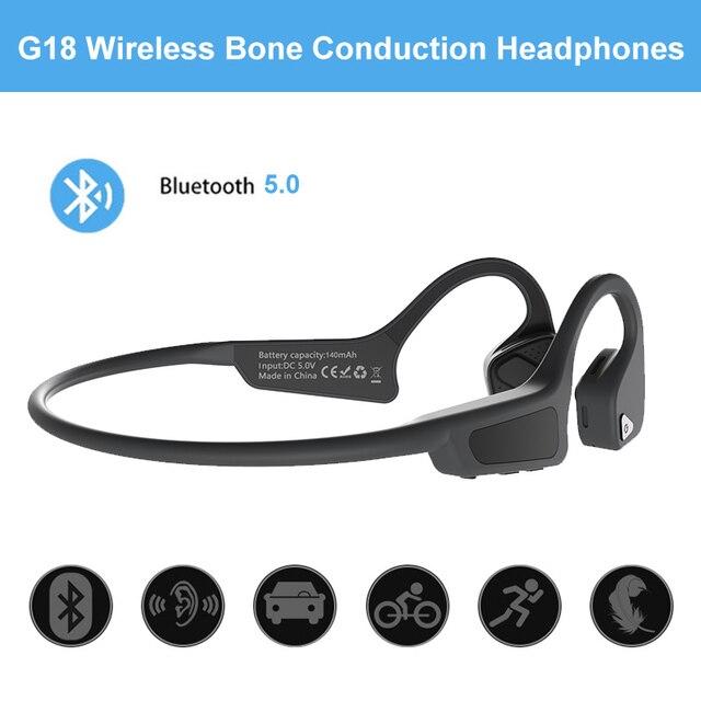 Auriculares deportivos inalámbricos Bluetooth al aire libre 5,0 con micrófono manos libres auriculares de conducción ósea