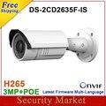Original DS-2CD2635F-IS  replace DS-2CD2632F-IS 3MP CCTV IP Vari-focal IR Bullet Camera IP Audio alarm IR camera DS-2CD2635F-IS