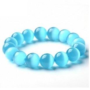 nuevo diseo azul opal beads bracelet u0026 bangle para mujeres y nias piedra natural bolas