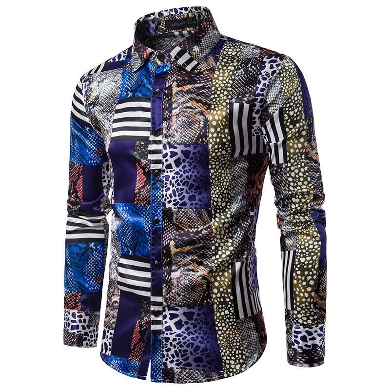 Μόδα Slim Fit αρσενικό τυχαίο πουκάμισα - Ανδρικός ρουχισμός - Φωτογραφία 3