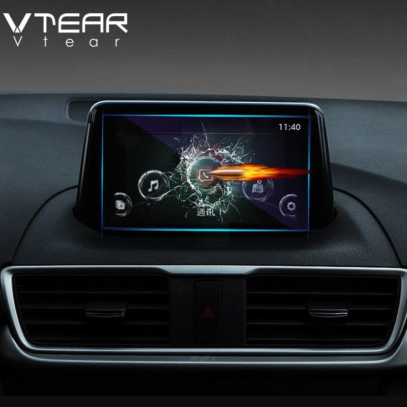 Vlarme pour Mazda 3 Axela 2018 2019 GPS Navigation écran en acier matériel de protection Film LCD écran Film autocollant accessoires