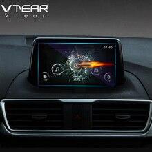 Vtear For Mazda 3 Axela 2018 2019 GPS Navigation Screen Steel material Protective Film