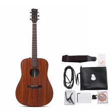 Enya 41 inch Guitar HPL Wood Full Board Acoustic Guitarra With Bag/Belt Accessories ED-X1