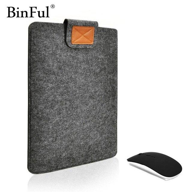 "BinFul New Laptop Cover Case For Macbook Pro/Air/Retina Notebook Sleeve bag 11""12'' 13""15"" Wool Felt Ultrabook Sleeve Pouch Bag"
