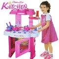 Los niños Juegan Cocina Microondas Ciudad Combina la Música Y Efectos de Luz de Juguete de Simulación de Cocina Juego de Cocina Para Niños