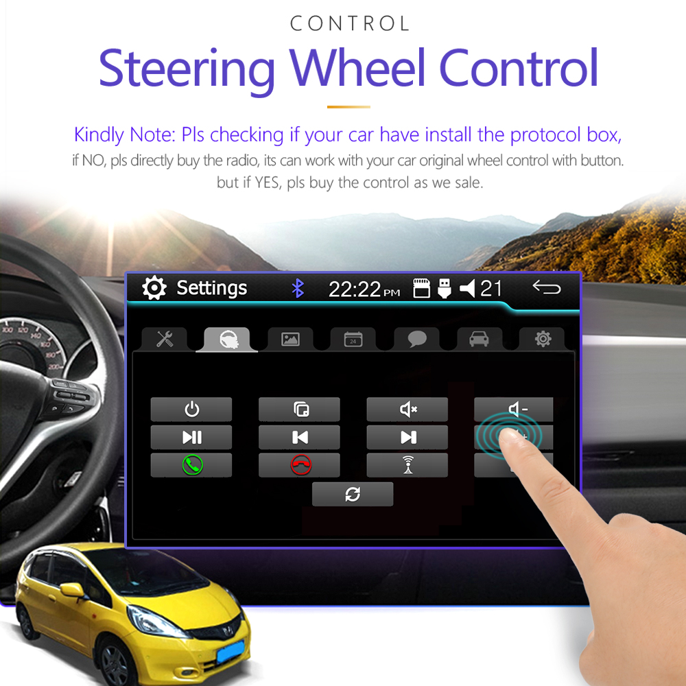 9 Touch Mirrorlink Android carplay Radio MP5 Player Bluetooth USB Rear View Camera car radio 1Din Autoradio No Android - 2