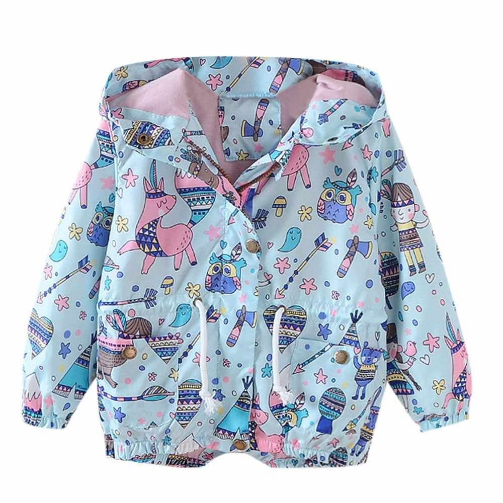 Children Kid Boys Girls Spring Autumn Cartoon Print Trench Jacket Outwear Coat Wholesale&Dropshipping