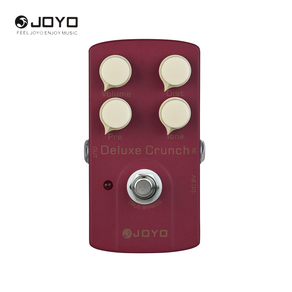 JOYO JF-39 Deluxe Crunch Electric Guitar Effect Pedal True Bypass joyo ironman orange juice amp simulator electric guitar effect pedal true bypass jf 310 with free 3m cable