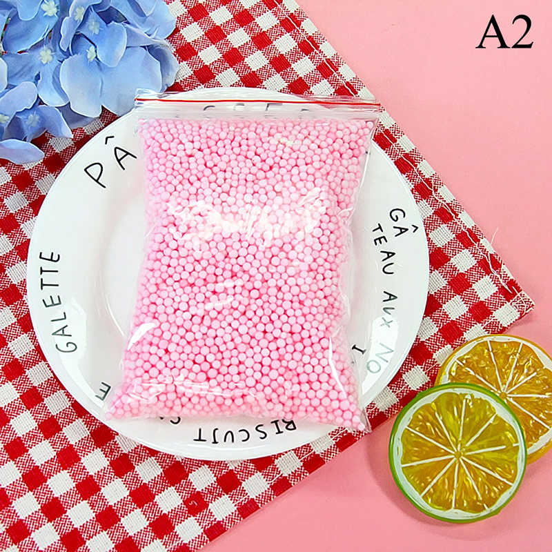 a759f3d9a3 One Pack Snow Mud Particles Accessories Safe Eco-Friendly ABS Slime Balls  Small Foam Beads For Foam Filler DIY Craft Supplies