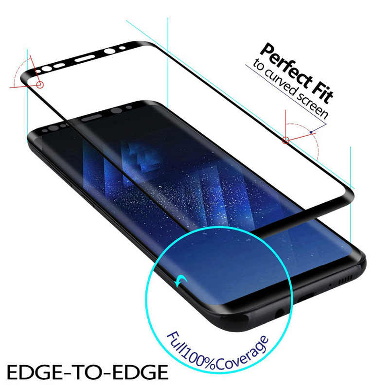 Full Cover Screen Protectors For Samsung Galaxy A50 S10 Plus Lite S8 S9 Plus Tempered Glass Film on For Samsung Galaxy Note 8 9