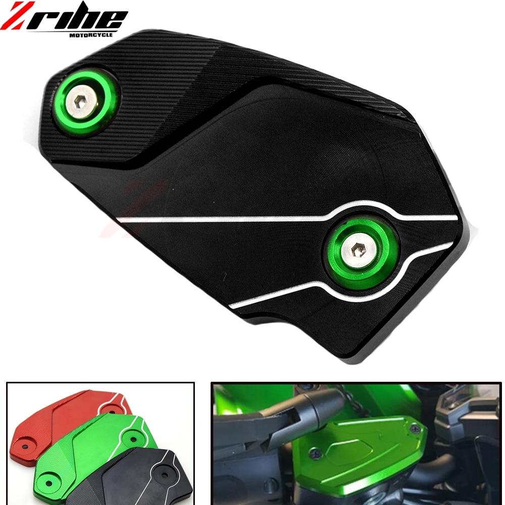 Motorcycle Accessories Motorbike Brake Fluid Tank Cap Cover For Kawasaki ER6N ER6F Z800 Versys650 Z900 Green Black red