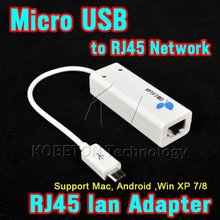 100Mbps Micro USB 2.0 RJ45 Network Lan Adapter Card Micro USB For Mac OS Android Tablet pc Laptop Smart TV Win 7 8 8.1 10