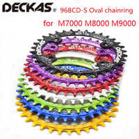 Deckas oval Chainring MTB Mountain bike bicycle chain ring BCD 96mm 32/34/36/38T plate 96bcd for 7-11 speed M7000 M8000 M9000