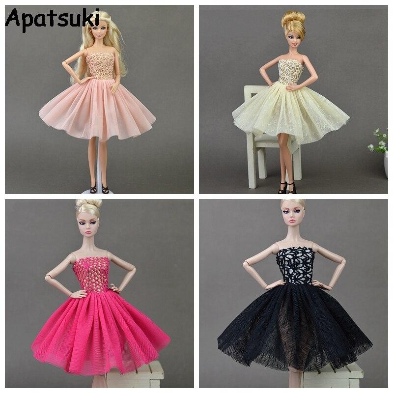 Muñeca Accesorios Moda Sexy Corto Vestido Para Barbie Doll