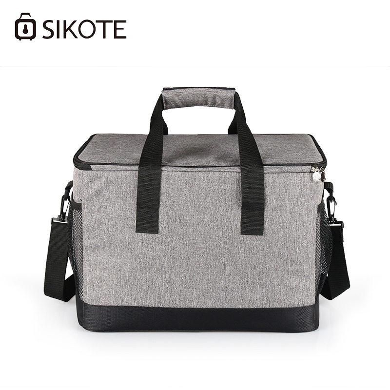 SIKOTE 13.5L Lunch Bags Thicken Storage Food Fruit Portable Thermal Insulated Multi-Function Car Cooler Bag Fresh Keep electric lunch box double layer stainless steel liner cooking lunch boxes multifunction plug in lunch box steamed rice steamer