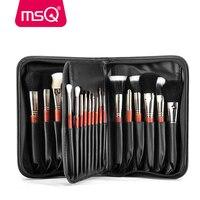 MSQ Pro 29pcs Makeup Brushes Set Foundation Powder Eyeshadow Make Up Brush Kit Copper Ferrule Animal