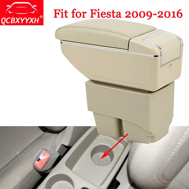 QCBXYYXH ABS Car-Styling Car Armrest Box Center Console Storage Box Holder Case New Auto Accessories For Ford Fiesta 2009-2016 набор invisibobble styling box