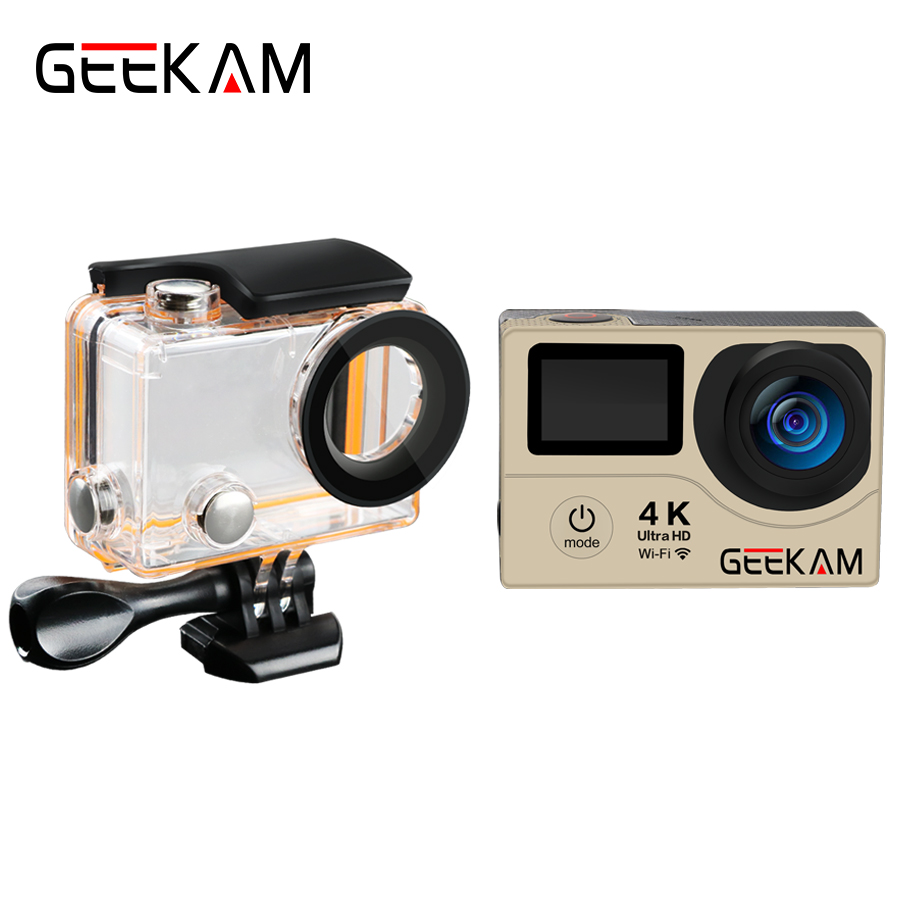 Original Geekam H3r H3 Action Camera 4k Wifi Ultra Hd 1080p 60fps Bult In Remote Control Cam 720p 120fps Pro Waterproof Mini Bike Video Sports