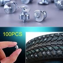 100 шт. винты для шин колеса с втулкой зимние шипы для шин с втулкой противоскользящие винты для автомобилей, мотовездехода, мотоцикла, велосипедной обуви