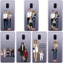 Moda Mae Do Bebe Caso Menina Para o samsung S6 7 8 9 Plus для девочек, мягкий ТПУ прозрачный чехол для телефона