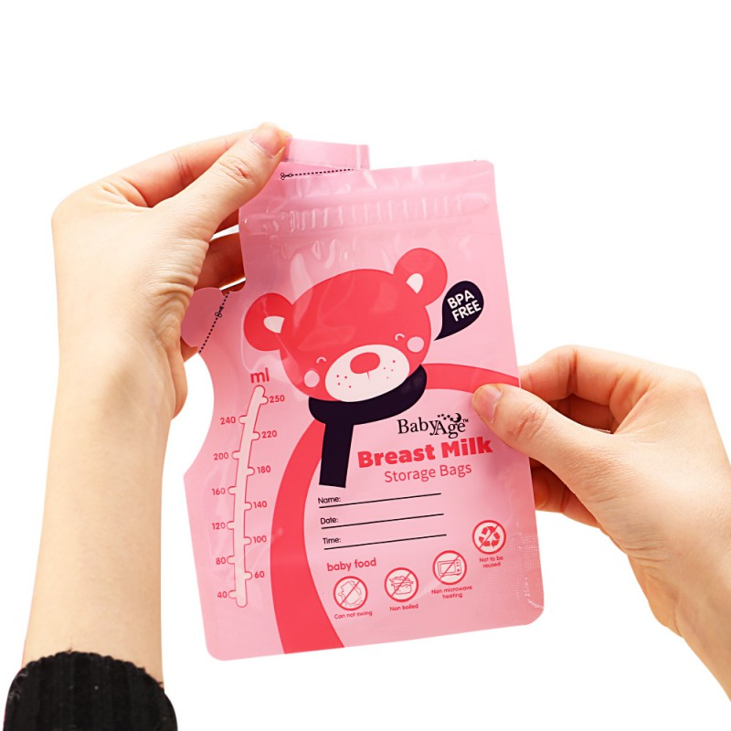 Safety 30Pcs/Pack 250ml Baby Food Storage Breast Milk Storage Bags Freezer Big Armazenamento De Leite Almacenaje Leche New