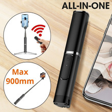 Wireless Bluetooth Selfie Stick tripod For iPhone 8 X 7 6s Plus Foldable Handheld Monopod Shutter Remote Extendable Mini Tripod