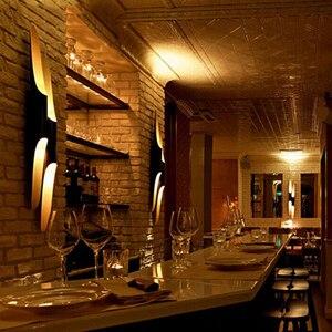 Image 4 - 현대 알루미늄 튜브 벽 조명 e27 전등 골드 블랙 북유럽 레스토랑 거실 통로 복도 발코니 벽 램프