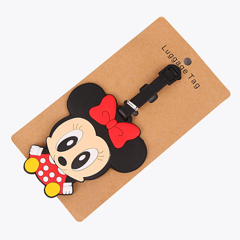 2018 New Fashion Silicon Luggage Tags Travel Accessories For Bags Portable Travel Label Suitcase Cartoon Style For Girls Boys