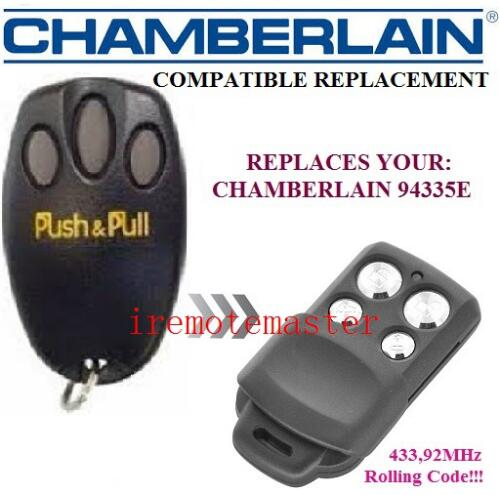 Best sale! For Chamberlain liftmaster 94335e replacement garage door remote control Rolling code 433.92MHZ free shipping розетка 2 местная с з со шторками стакан hegel master белый