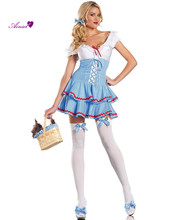 Sweet Dorothy Adult Womens Wizard of Oz Costume Rubies Womens Sexy  Ladies Fancy Dress Costume Adults Outfit    CS01048