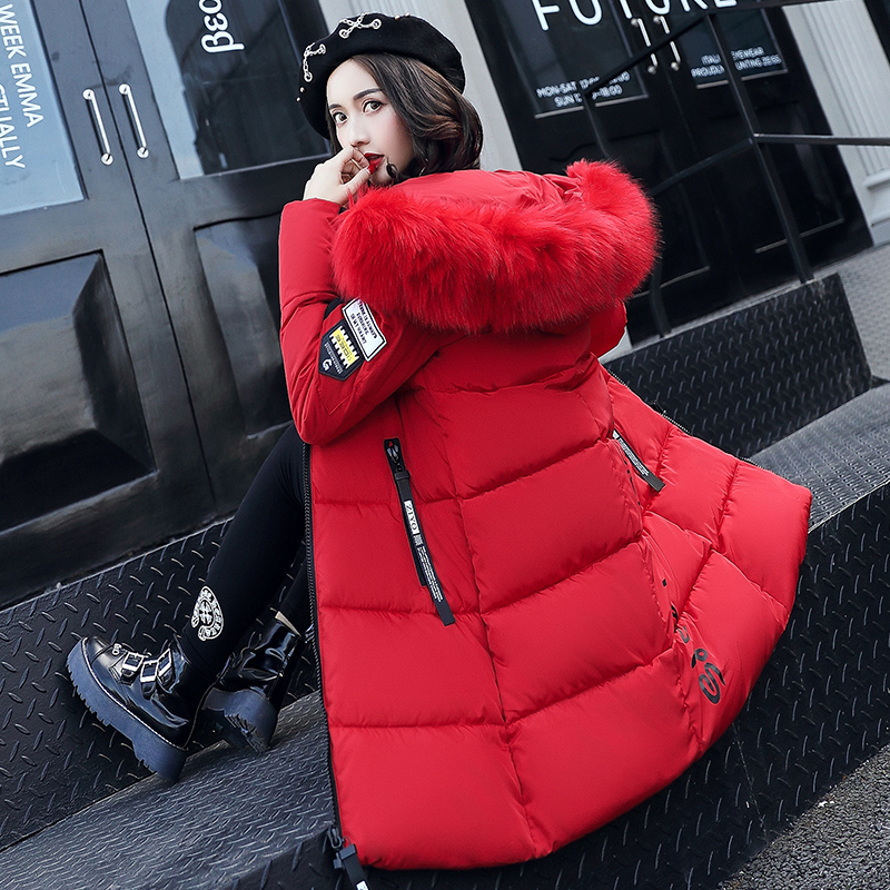2017 Winter Jacket Women High Quality Fashion Thick Warm Parkas For Female Fur Collar Cotton Slim Padded Hooded Leisure Outwear snow wear 2017 high quality winter women jacket cotton coats fur collar hooded parkas fashion long thick femme outwear cm1346
