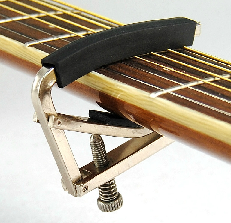 Negro de la guitarra acústica capo de Metal Guitar parts alta calidad instrument