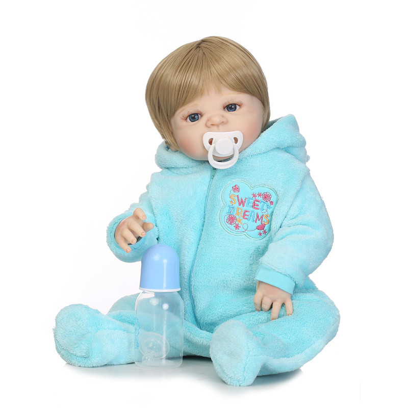 все цены на NPK 55cm Soft Full Body Silicone Reborn Dolls Baby Realistic Doll Reborn 22 Inch Full Vinyl Boneca BeBe Reborn Doll For Girls онлайн