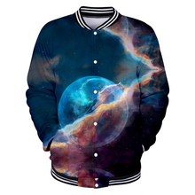 LUCKYFRIDAYF Starry sky 3D Baseball Jacket Skull Print Autumn Women/Men Kpop Fashion Coats Casual Clothes