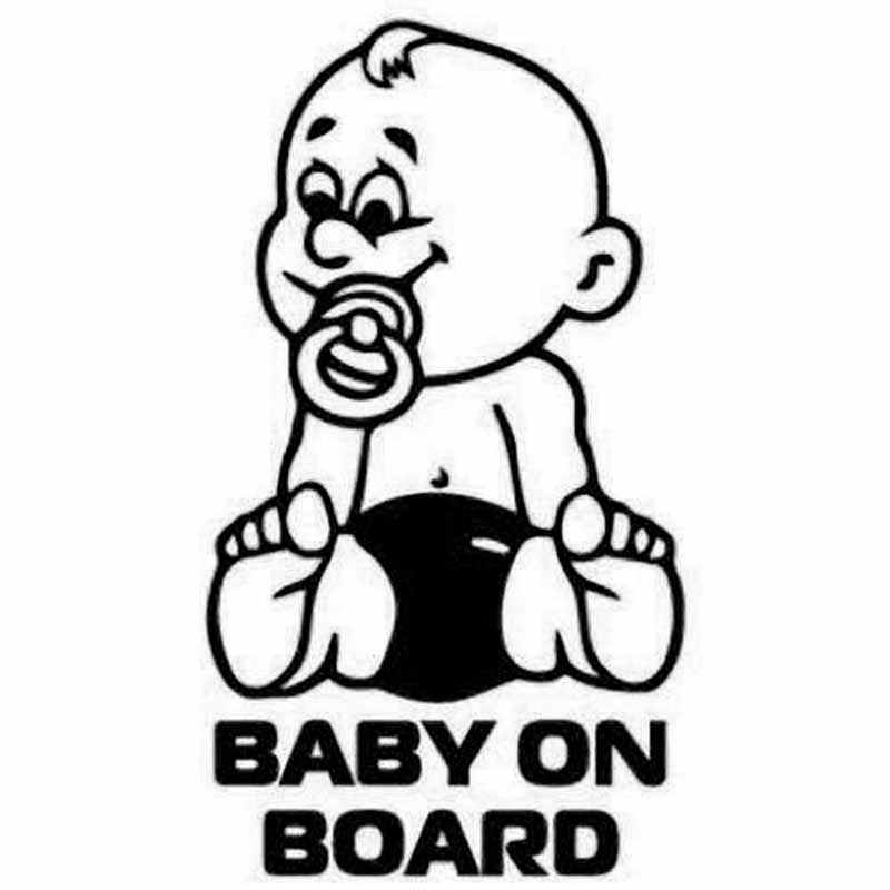 10 2 18 2CM Baby on Board Notice Car Sticker Motorcycle Accessories Decorative Plastic Decals Rear Trunk Emblem Window Badge in Car Stickers from Automobiles Motorcycles