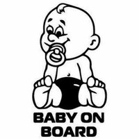 board notice car 10.2*18.2CM Baby on Board Notice Car Sticker Motorcycle Accessories Decorative Plastic Decals Rear Trunk Emblem Window Badge (1)