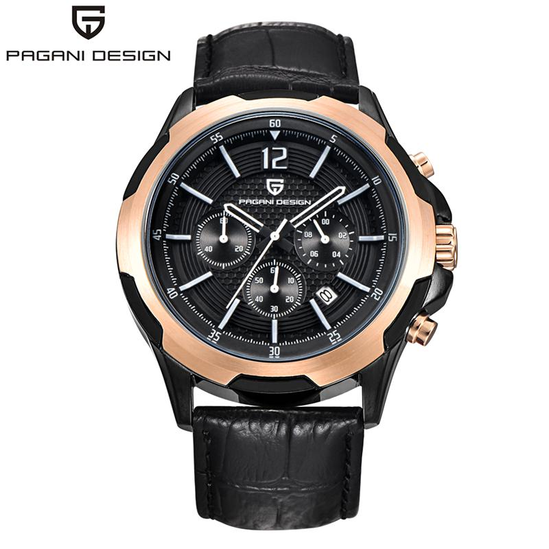 2016 Mens Watches PAGANI DESIGN Brand Luxury Casual Military Quartz Sports Wristwatch Leather Strap Men Watch Male Clock watch mens watch top luxury brand fashion hollow clock male casual sport wristwatch men pirate skull style quartz watch reloj homber