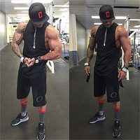 Men Fashion Blank Cotton Sleeveless Shirts Tank Top Men S Fitted Muscle Workout Tank Tops Bodybuilding