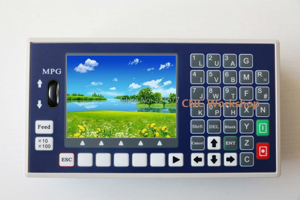 Controlador CNC de 3 ejes USB Stick Código G Panel de control del husillo MPG Controlador de máquina fresadora de torno independiente