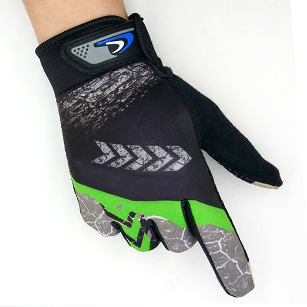 M-XL Unisex 1Pair Sports Cycling Motorcycle Bike Bicycle Full Finger Hand Gloves