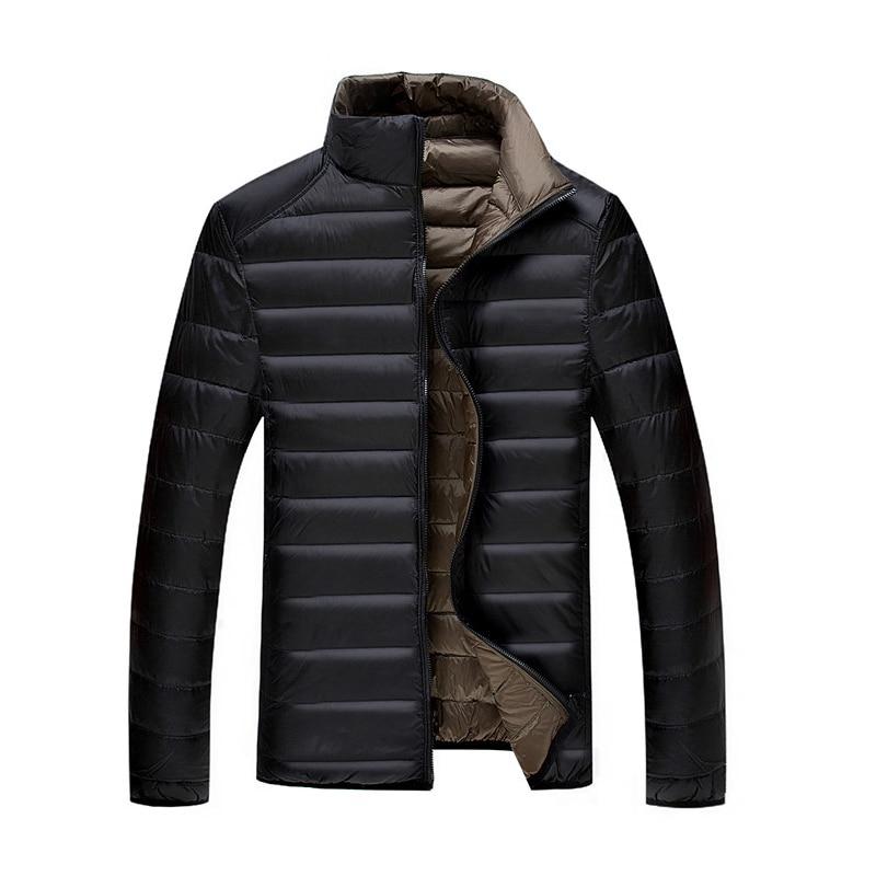 5XL 6XL 7XL 90% chaqueta de plumón de pato blanco chaqueta de abrigo de invierno chaqueta fina ultraligera para hombre chaquetas de abrigo para hombre
