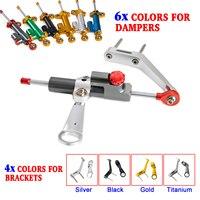 CNC Steering Damper Stabilizer & Mounting Bracket Kit For Honda CBR954RR CBR 954 RR 2002 2003