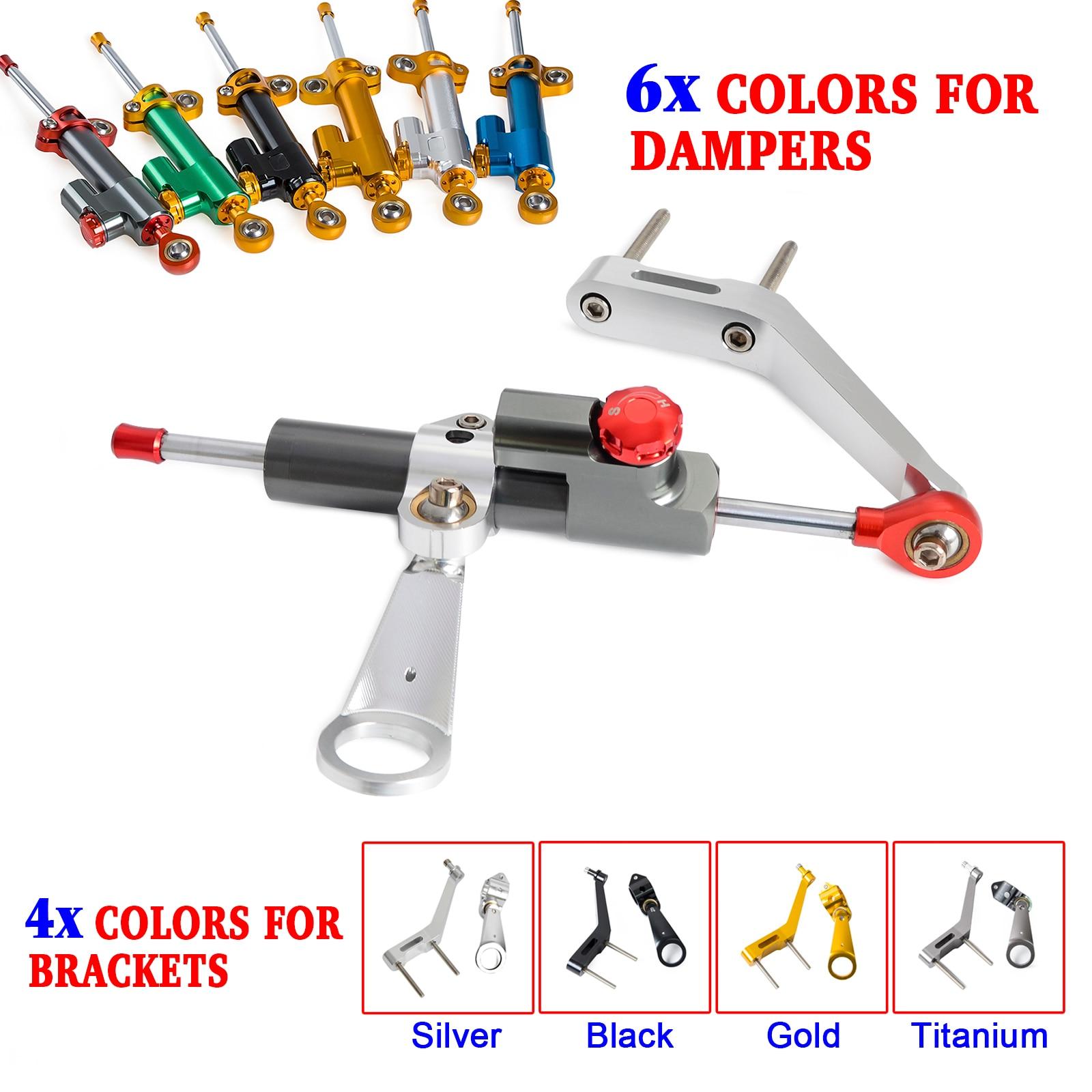 Stabilisateur d'amortisseur de direction CNC et Kit de support de montage pour Honda CBR954RR CBR 954 RR 2002 2003