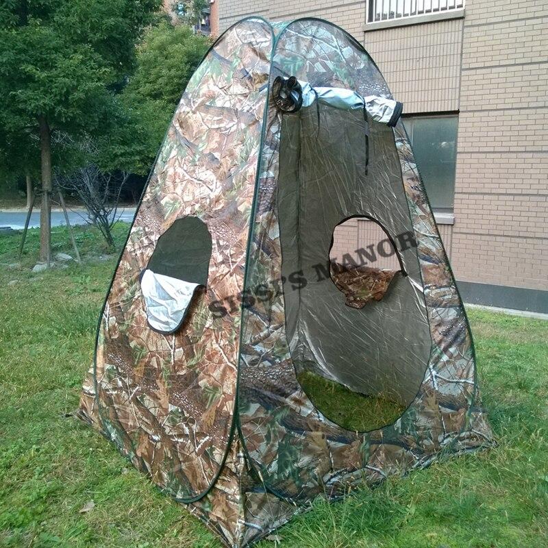Камуфляж 150*150*185 см Портативный конфиденциальности Душ Туалет Кемпинг поп-палатку/УФ функция Открытый туалетный палатки/фотографии палатка ...