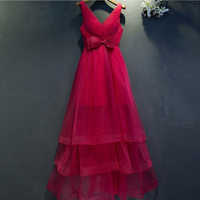 Rosa quente um line prom vestidos com cinto de laço de organza e tulle curto vestidos de festa vestidos de preto princesa vestidos de noite formal do partido