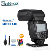 Shanny SN910EX RF i ttl HSS 1/8000 s GN60 Master/Slave 2.4G Kablosuz Radyo Flaş Speedlite nikon D850 D810 D800 D750 D500 D5|Flaşlar|   -