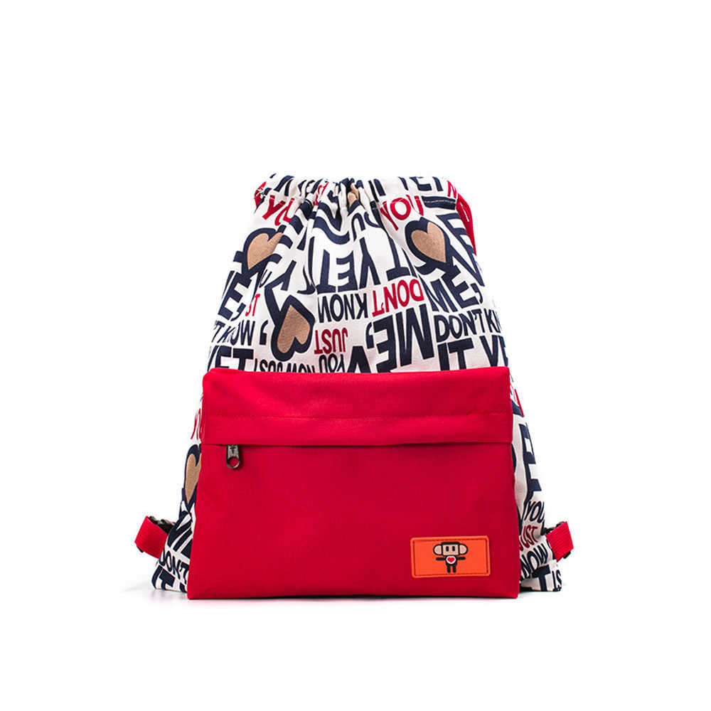 6d9c28271cfd Detail Feedback Questions about Teenagers Drawstring Bags Satchels Backpack  Girl Boy School Shoulder Bag Fashion Canvas Print Women Men Travel sac a  dos ...
